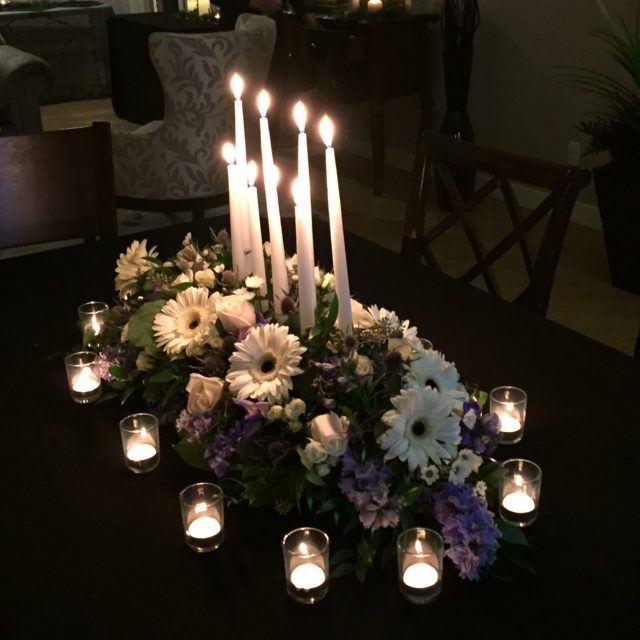 Elegant Centerpiece with Candles